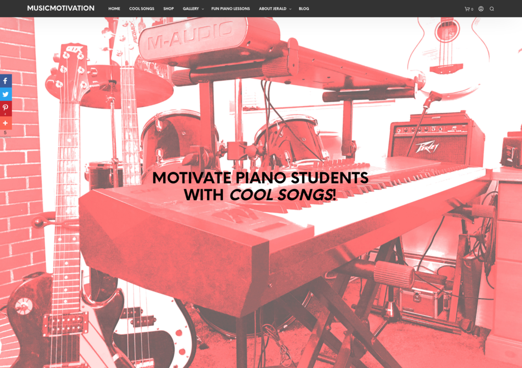 Motivate piano students with Cool Songs composed by Jerald Simon - Music Motivation