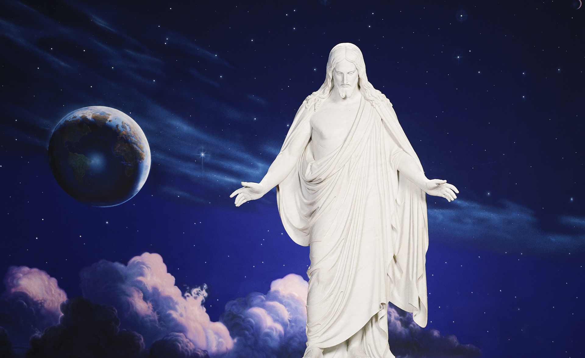 The Christus Statue - Image copyright LDS Church - Take the Hymn Challenge and play every hymn in your hymn book by Jerald Simon (Music Motivation)