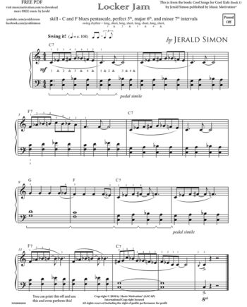 Locker JAM - FREE PDF Piano Music by Jerald Simon - published by Music Motivation