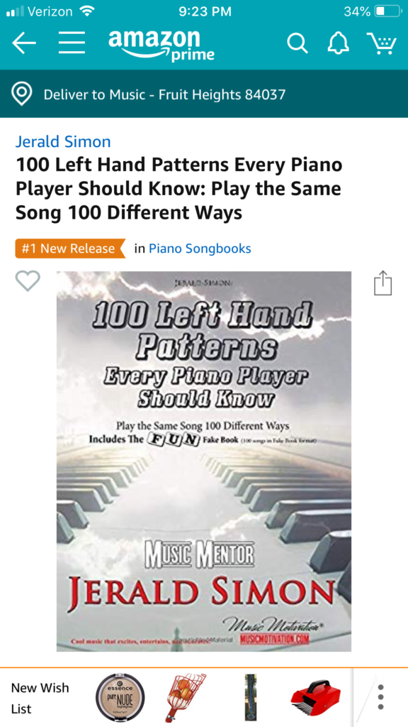 100 Left Hand Patterns Every Piano Player Should Know...by Jerald Simon - published by Music Motivation